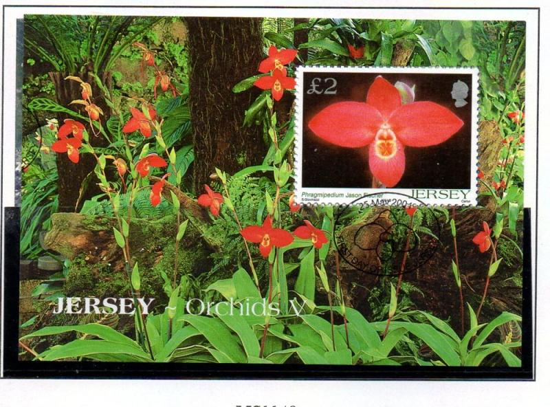 Jersey Sc 1129 2004 £2 Orchid stamp sheet used