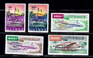 Guinea 201-02;C24-26 MH 1960 Olympics Overprint