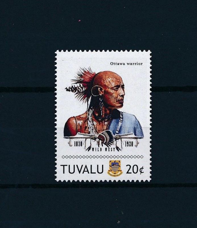 [80917] Tuvalu 2011 Native Americans Indians Ottawa Warrior MNH