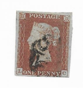 Great Britain #3 F-VF Used Hinge Remnants - Stamp - CAT VALUE $9.00