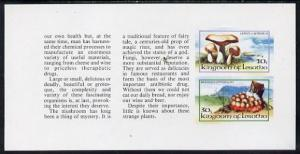 Booklet - Lesotho 1983 Fungi 10s & 30s values in unmo...
