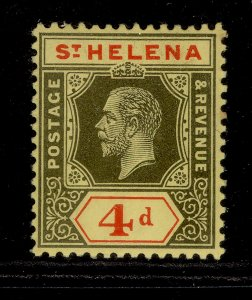 ST. HELENA GV SG83, 4d black & red/yellow, M MINT. Cat £15. CHALKY