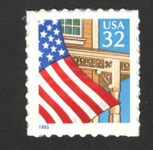 2920 Flag Over Porch US Single Mint/nh (Free Shipping)