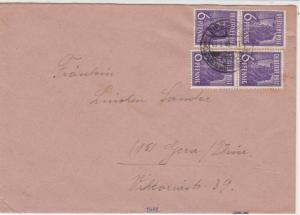 Germany 1948 Allied Occupation to Thuringia Leipzig Cancel Stamps Cover ref23236
