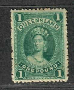 Queensland Sc#83 M/H/VF, Light Gum Toning, Cv. $350