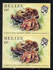 Belize 1984-88 Hermit Crab 6c def in unmounted mint imper...