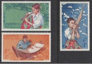 Laos #34-36 MLH CV$6.25