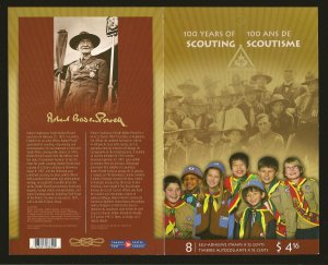 Canada Boy Scouts of Canada 100 Years of Scouting Booklet of 8 MNH