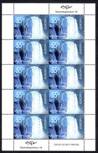 Iceland Sc# 937-938 MNH Pane/10 2001 Europa