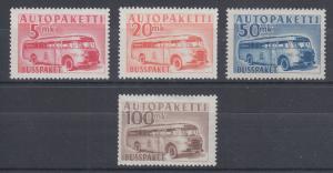 Finland Sc Q6-Q9 MLH. 1952-1958 Parcel Post, complete F-VF