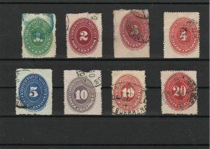 Mexico 1886 Numeral Issue Stamps Ref 27179