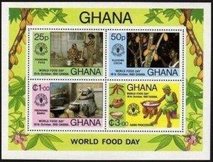 Ghana 769 ad sheet,MNH.Michel Bl.91. FAO 1981.World Food Day,Fruits,Nuts.