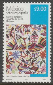 MEXICO 2501, $9.00P HANDCRAFTS 2005 ISSUE. MINT, NH. F-VF.
