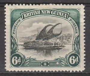 PAPUA 1901 LAKATOI BRITISH NEW GUINEA 6D HORIZ WMK