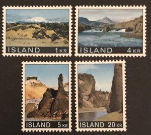 Iceland 1970 #412-15 MNH, CV $3