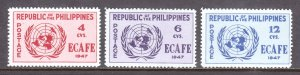 Philippines - Scott #516-518 - MH - Corner creasing at left #518 - SCV $8.30