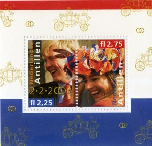 NETHERLANDS ANTILLES 975 MNH S/S SCV $5.75 BIN $3.50 ROYALTY