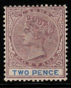 LAGOS SG30 1887 2d DULL MAUVE & BLUE MTD MINT