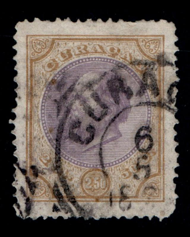 VINTAGE: CURACAO 1873 USD,BH SCOTT # 7 $ 37.50 LOT # VSACUR1873C