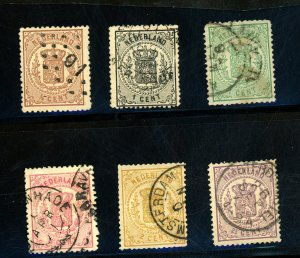 Netherlands #17-22 Used FVF Cat#233