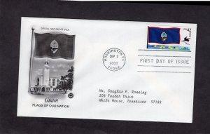 4286 Guam Flag, FDC PCS addressed