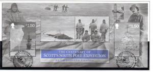 Isle of Man Sc 1527 2012 Scott South Pole stamp sheet used