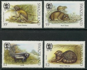 SWAZILAND Sc#539-542 1989 Small Mammals Complete Set OG Mint NH