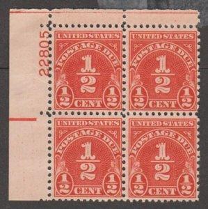 U.S. Scott #J79 Postage Due Stamp - Mint NH Plate Block