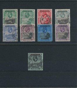 ASCENSION 1922 SET OF NINE FU SG 1/9 CAT £475