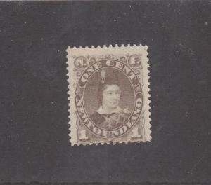 NEWFOUNDLAND # 42 FVF-MNG 1cts PRINCE OF WALES CAT VALUE $90