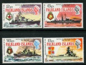 Falkland Is 1974 Battleships set Sc# 237-40 NH