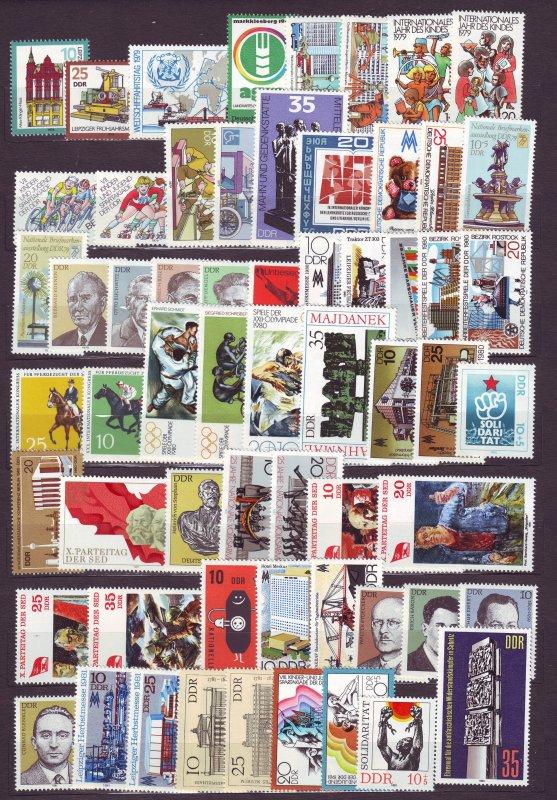 J23256 JL stamps various 1979-81 DDR germany many sets mnh designs#