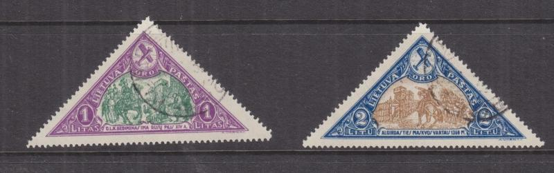 LITHUANIA, 1932 15th. Anniv. Independence, Air, 1L. & 2L., used.