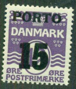 DENMARK #J38, Mint Never Hinged, Scott $18.00