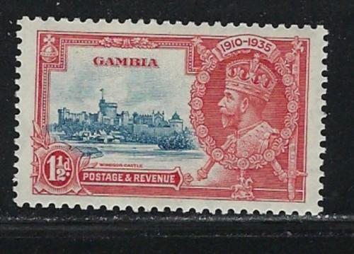 Gambia 125 Hinged 1935 Issue