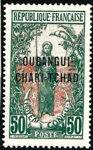 French Ubangi-Shari (Sc #17) VF Mint OG hr...Difficult to find!