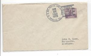 United States, 729, Century of Progress Railway Cover Addressed, Used