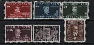 LIECHTENSTEIN 160-165 (6) Set, MNH, 1940 Birth Centenary of Prince Johann II