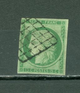 FRANCE CERES #2( YT #2)...USED... VERY FINE... SIGNED...CAT.$800.00