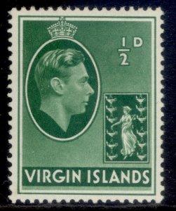 BRITISH VIRGIN ISLANDS GVI SG110a, ½d green, M MINT.