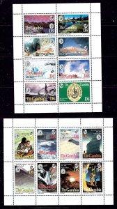 Gambia 1536-37 MNH 1994 Sierra Club Centennial sheets of 8    (ap2916)