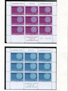 Europa CEPT  1970 complete VF NH  - Lakeshore Philatelics