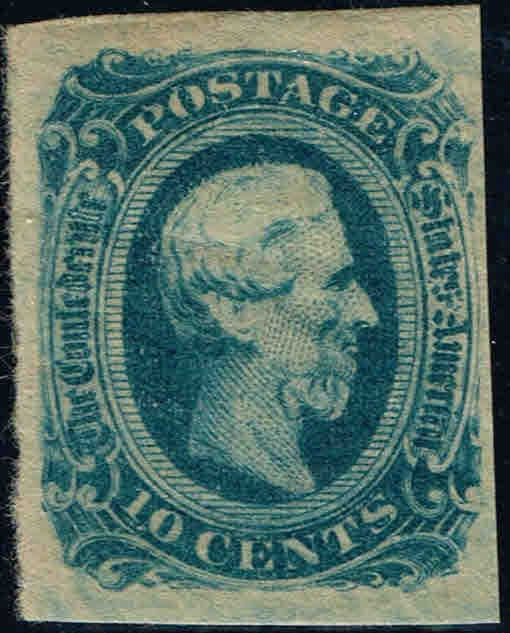 *CSA#12 1963-64 10c JEFFERSON DAVIS CONFEDERATE ISSUE-MINT-OG/LH