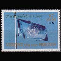 UN-VIENNA 2001 - Scott# 301 Nobel Prize Set of 1 NH