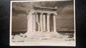 """RARE GREECE TO USA 1958 VINTAGE PICTURE """"NIKE"""" GODDESS OF VICTORY TEMPLE POSTALY"""
