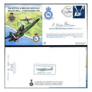 JS(CC)9d Battle of Britain Open Day Signed Air Vice-Marshal R Deacon Elliott (A)