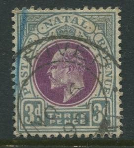 STAMP STATION PERTH Natal #86 Used KEVII 1902 Wmk 2 Crown and CA CV$2.75.