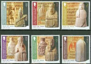 ISLE OF MAN  2013 CHESS PIECES  SET OF SIX  MINT NH