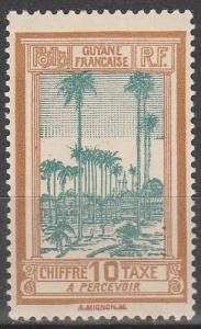French Guiana #J14 F-VF Unused  (V4108)