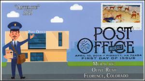 19-072, 2019, Post Office Murals, Pictorial  Postmark, FDC, Antelope